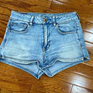 Cute American Eagle Outfitters hi-rise jean shorts